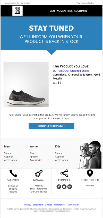 35 Responsive eCommerce Email Templates